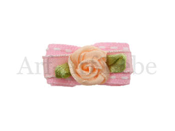 Bebe Barrette - Peach Rose