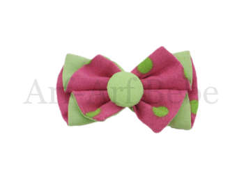 Boutique Barrette - Pink & Green
