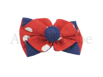 Boutique Barrette - Blue & Red