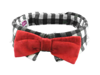 "Checkered ""Bow-Wow"" Bow"