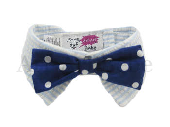 "Blue Polka Dot ""Bow-Wow"" Bow"