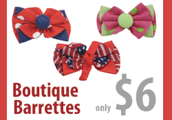 Boutique Barrette Dog Bow